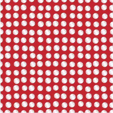 Illustration of white polka dots scribbled on red background Reklamní fotografie