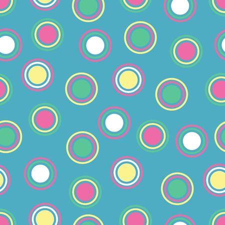circles pattern: Illustration of bright polka dots on blue background