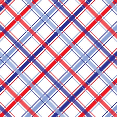 Background illustration of red, white and blue plaid pattern