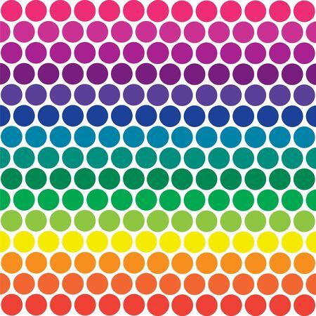 明るい虹のイラストの色の水玉 写真素材