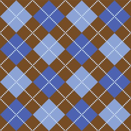 Background illustration of blue and brown argyle pattern illustration