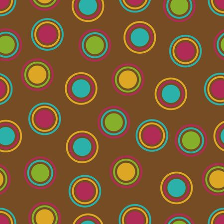brown background: Bold Polka Dots background pattern in fall colors