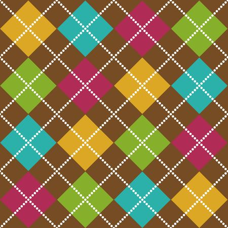 fuschia: Bold Argyle background pattern in fall colors