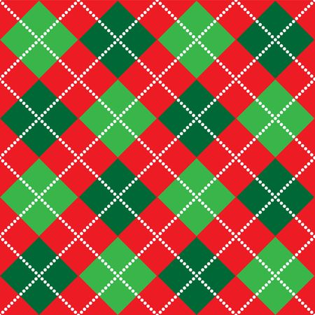green lines: Background illustration of red, white and green argyle pattern Stock Photo