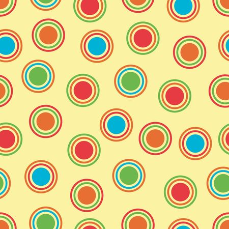 blue green background: Polka Dots background pattern in bright colors Stock Photo