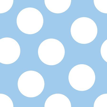 Illustratie van de grote witte polka dots op blauwe achtergrond