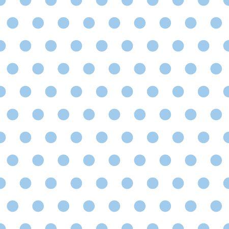 Illustratie van kleine lichtblauwe polka dots op witte achtergrond