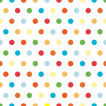 Polka Dots background pattern in bright colors Stock Photo