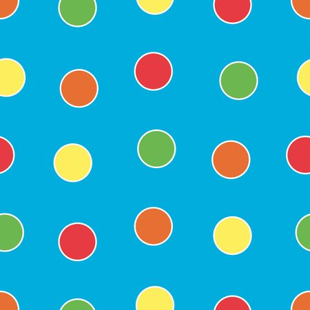 ball aqua: Polka Dots background pattern in bright colors Stock Photo