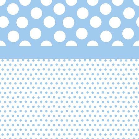 少年色の小規模および大規模な水玉の背景イラスト