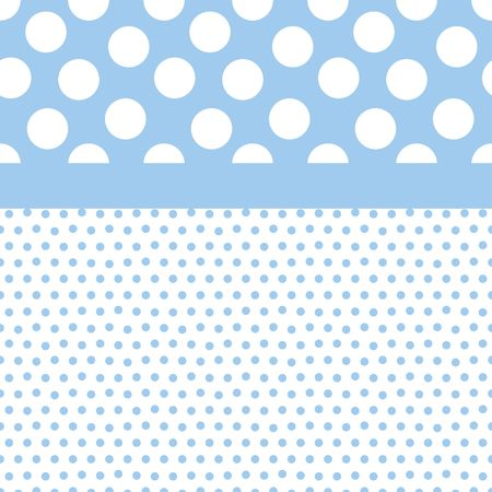 blue circles: Background illustration of small and large polka dots in  boy colors
