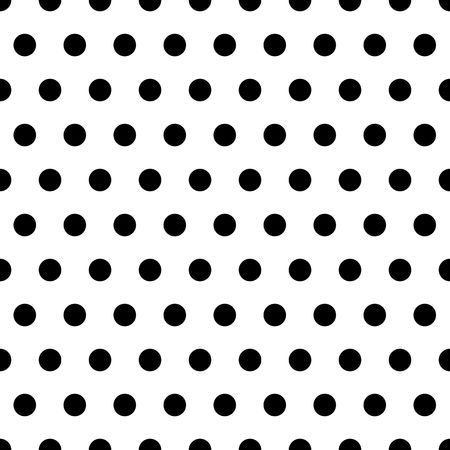 black: Black polka dot pattern on white background Stock Photo