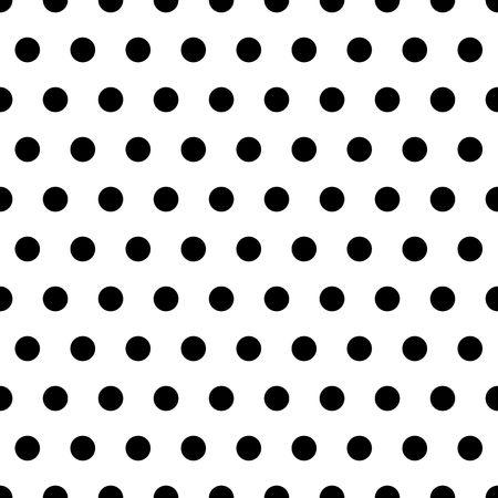 Black polka dot pattern on white background Archivio Fotografico