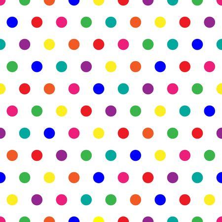 Bright polka dots achtergrond in regenboog kleuren