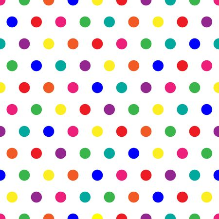 rainbow background: Bright polka dots background in rainbow colors