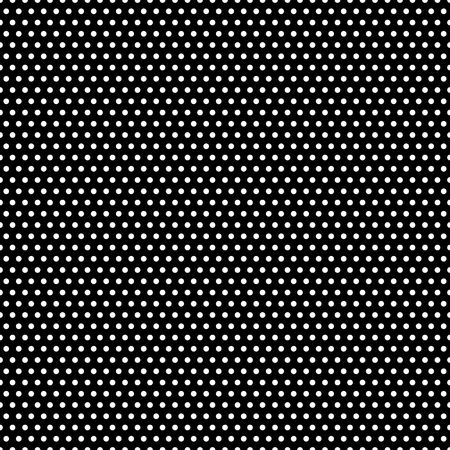 in the black: Tiny white polka dots on black background