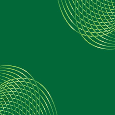 A green background pattern with abstract lines in two corners