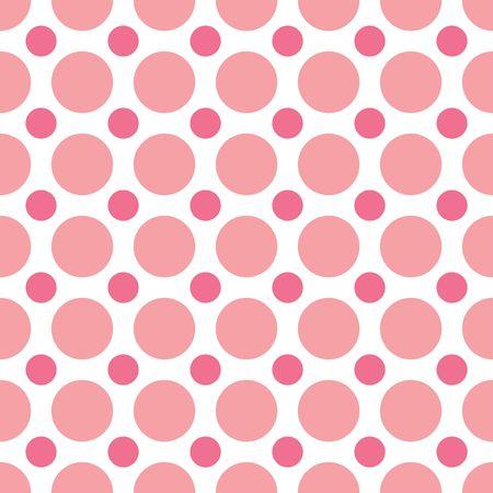 交互にピンクのドットのシームレスな背景パターン 写真素材