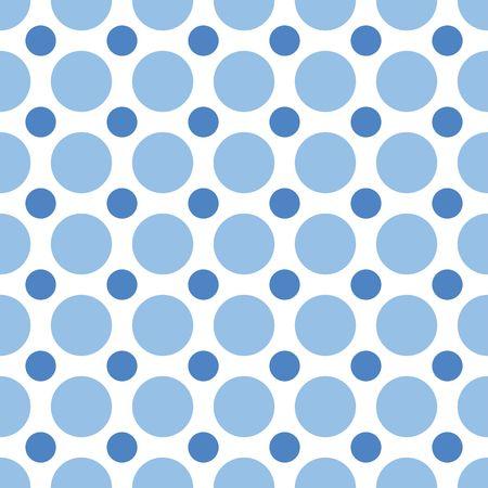青いドットを交互のシームレスな背景パターン