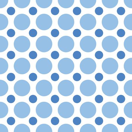 polka dots: A seamless background pattern of alternating blue dots Stock Photo
