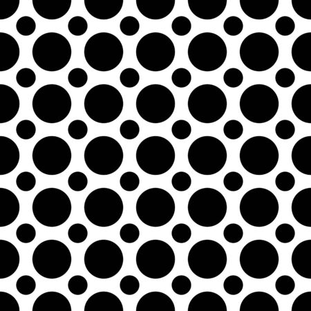 in the black: A seamless pattern of alternating large and small black dots