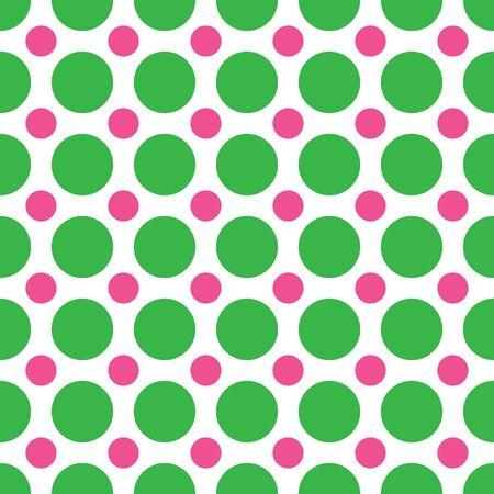大規模なグリーンの小さなピンクのドットを交互の背景パターン