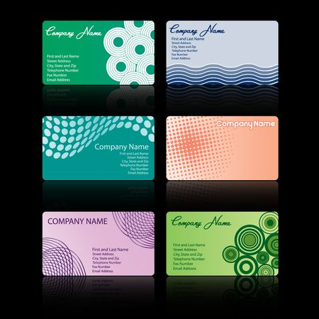 A  set of six stylish business cards Stock Photo - 3563613