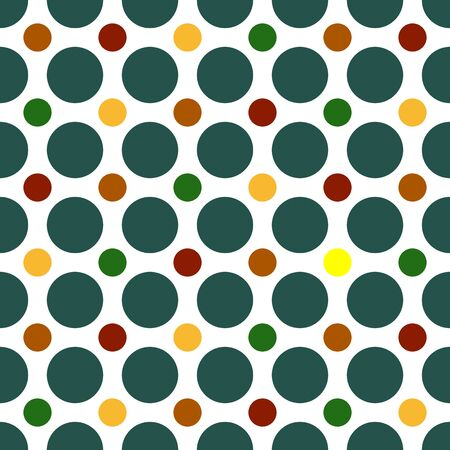 Seamless Polka Dots background pattern in bright colors Stock Photo - 3627205