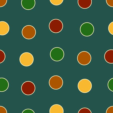Polka Dots background pattern in bold colors Stock Photo - 3627203