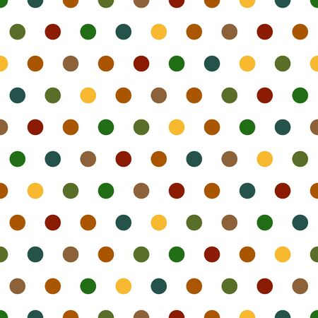 Seamless Polka Dots background pattern in bright colors photo