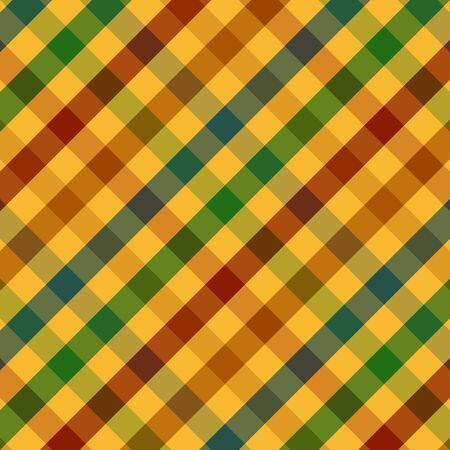 Bold plaid background pattern in fall colors