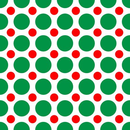 polka dotted: A background pattern of polka dots in Christmas colors