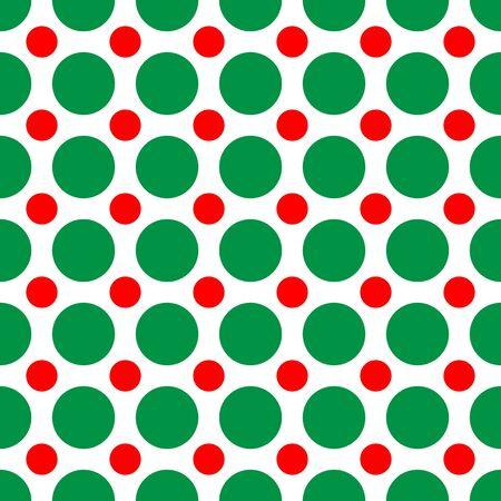Un fondo arabescato di pois a colori di Natale Archivio Fotografico