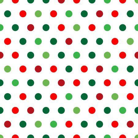 クリスマス色の水玉の背景パターン