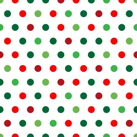 spot: A background pattern of polka dots in Christmas colors