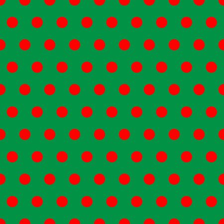 A background pattern of polka dots in Christmas colors