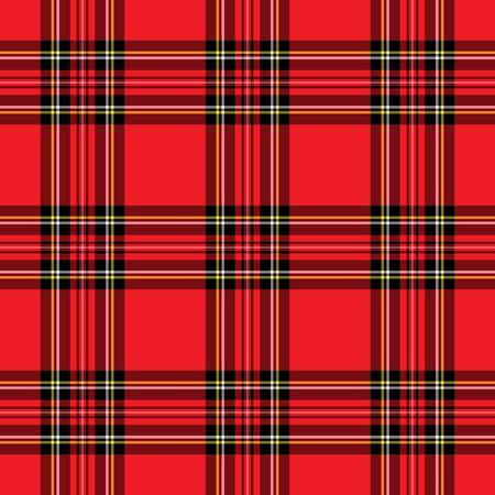 赤と黒の格子縞のパターンの背景イラスト