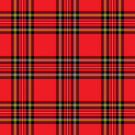 fabric textures: Background illustration of red and black plaid pattern