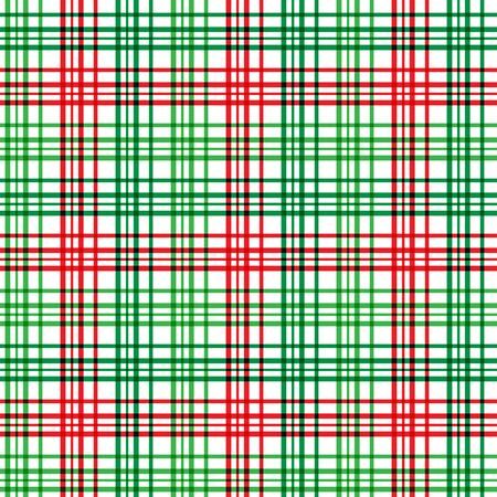 A plaid background pattern in Christmas colors