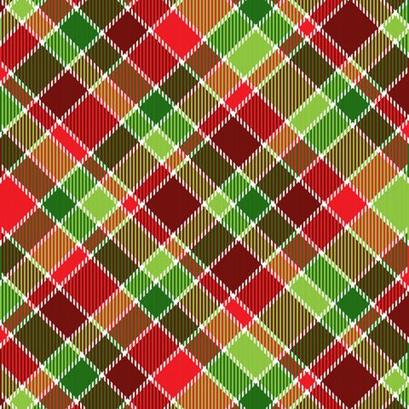 holiday: A plaid background pattern in Christmas colors
