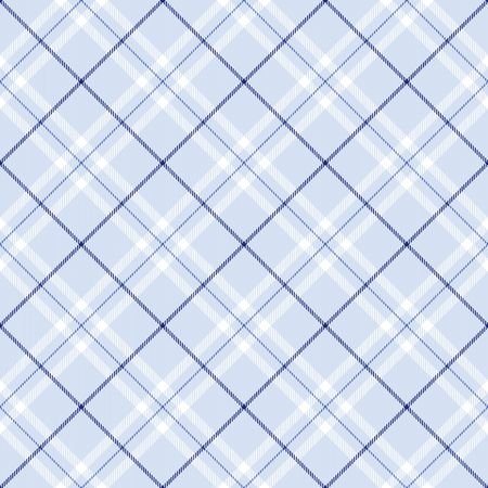 blue plaid: Light blue plaid with dark blue and white  stripes Stock Photo