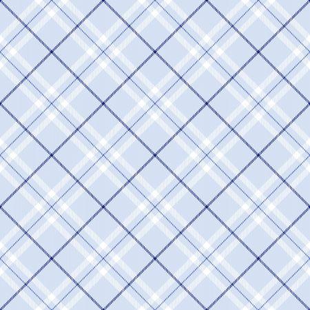 Plaid bleu foncé avec des rayures bleu et blanc