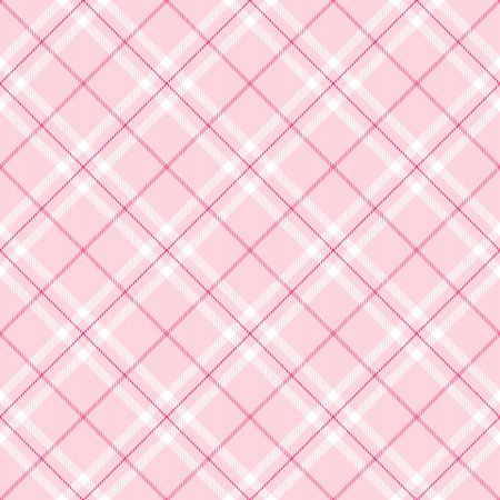 checker: Light pink  plaid with dark pink and white  stripes Stock Photo
