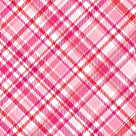 Plaid background pattern in shades of pink