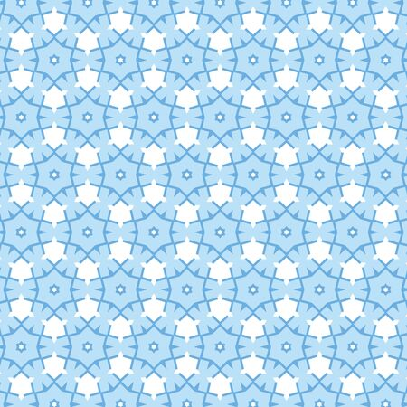 An illustration of blue snowflake background pattern