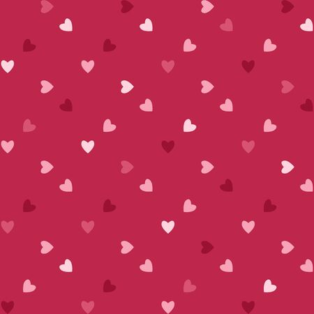 A background pattern of valentine hearts in shades of pink