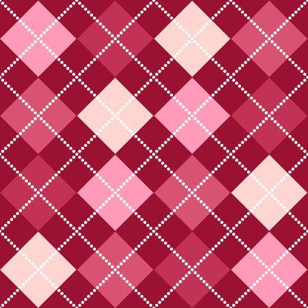 ピンクの色合いで背景アーガイル柄