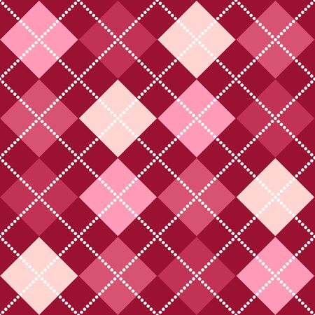 A background argyle pattern in shades of pink