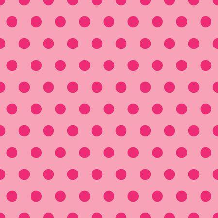 ピンクの色合いで水玉の背景イラスト