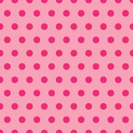 A background illustration of polka dots in shades of pink